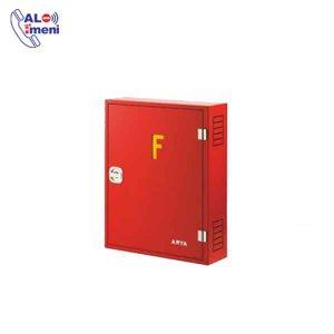جعبه آتش نشانی تک کابین رو کار با توجه به استفاده آن طوری طراحی شده که در برابر انواع ضربات و آتش مقاومت بسیار خوبی داشته باشد