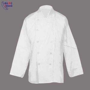 لباس رستورانی سفید ساده