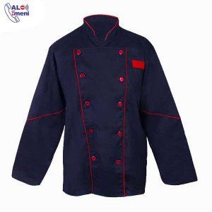 لباس رستورانی سر آشپز سرمه ای