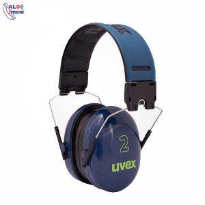 گوشی ایمنی 2 Uvex آبی