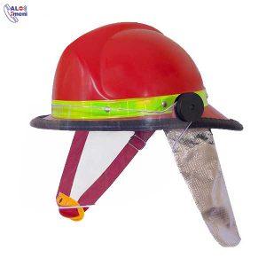 کلاه آتش نشانی FFH با نقاب و پشتی نسوز