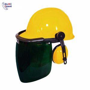 کلاه ایمنی همراه با گوشی و شیلد