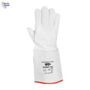 دستکش آرگون ساق بلند سفید