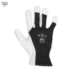 دستکش جوشکاری SPC پشت پارچه ای