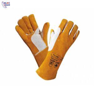 دستکش هوبارت طرح آمریکایی سیم دوز ورکر خردلی