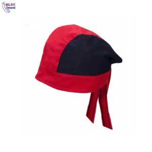 کلاه آشپزی ترکی قرمز مشکی