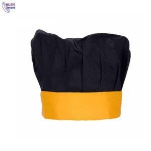 کلاه پفکی مشکی زرد