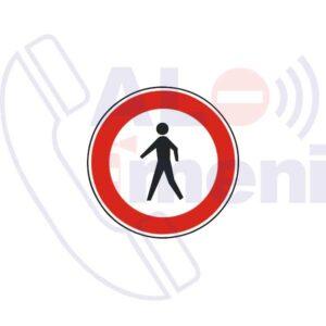 تابلو عبور عابرین پیاده ممنوع